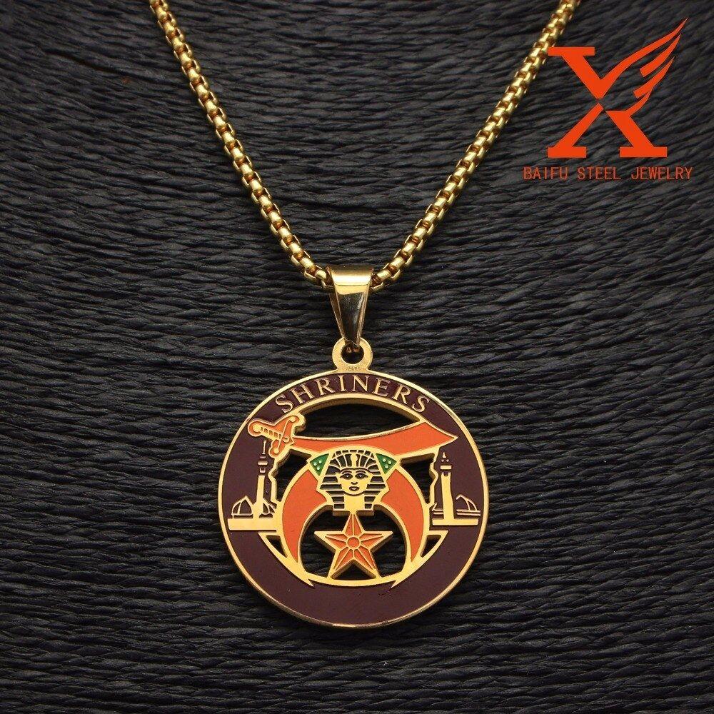 "Stainless Steel Novus Masonic Pendant Necklace Box Chain 3MM 24/"""