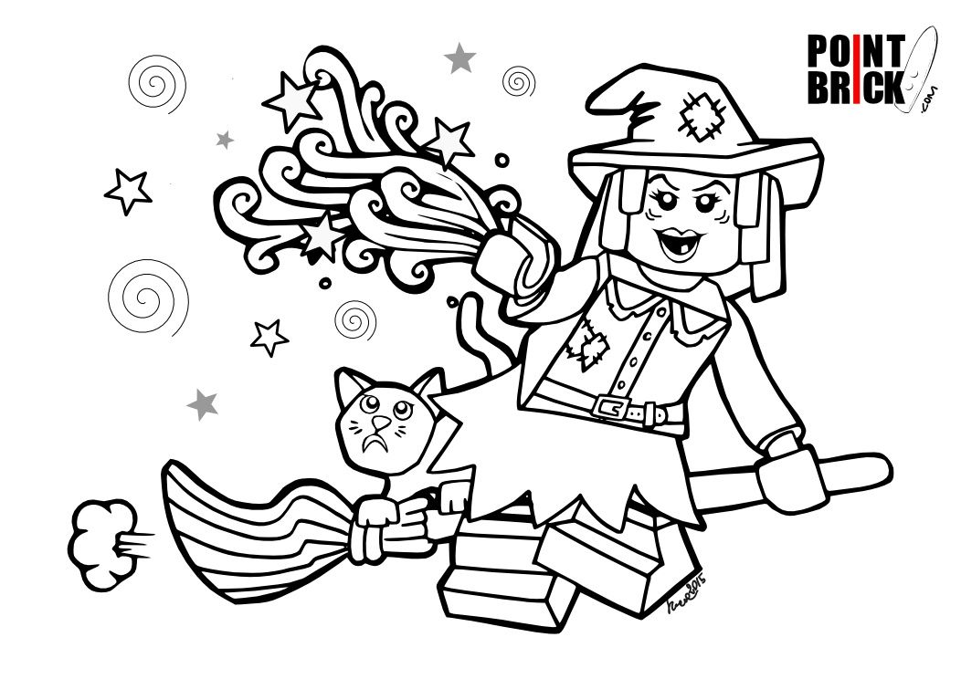 Disegni da Colorare LEGO Halloween Monsters! Lego - best of coloring pages playmobil knights