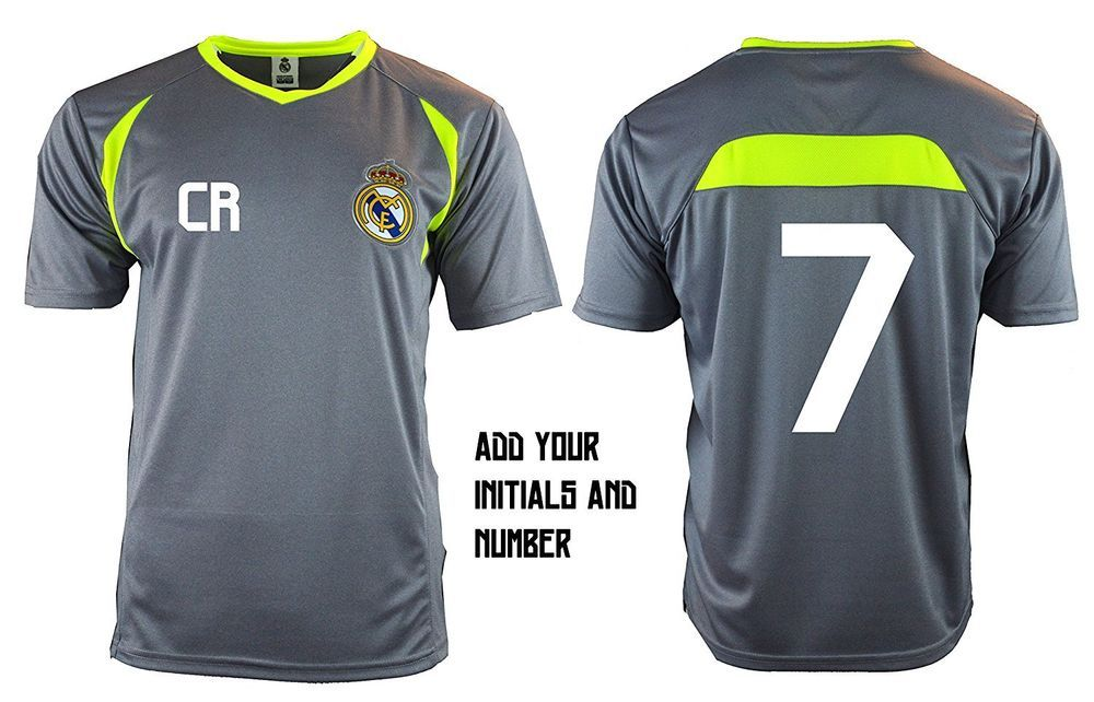 Real Madrid Soccer Jersey Training   Any initials and Number Ronaldo 7  T1Y36  RHINOX  RealMadrid e841f0385