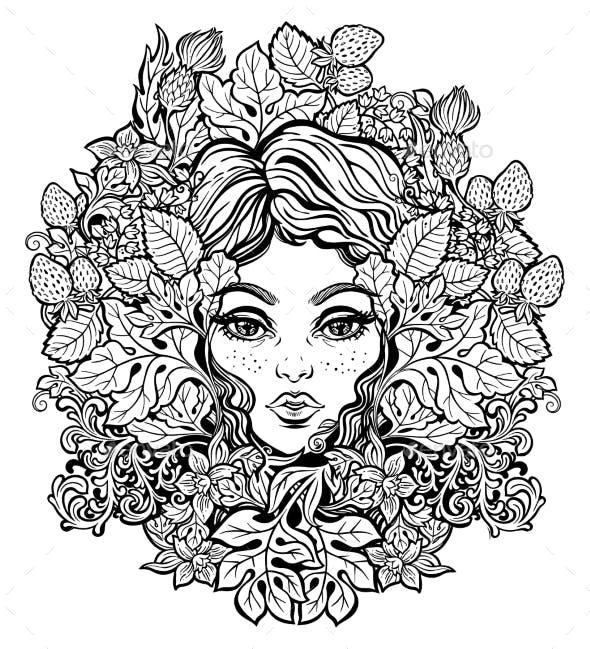 Pixie Fairy Green Nature Elf Illustration for $8 #nature # ...