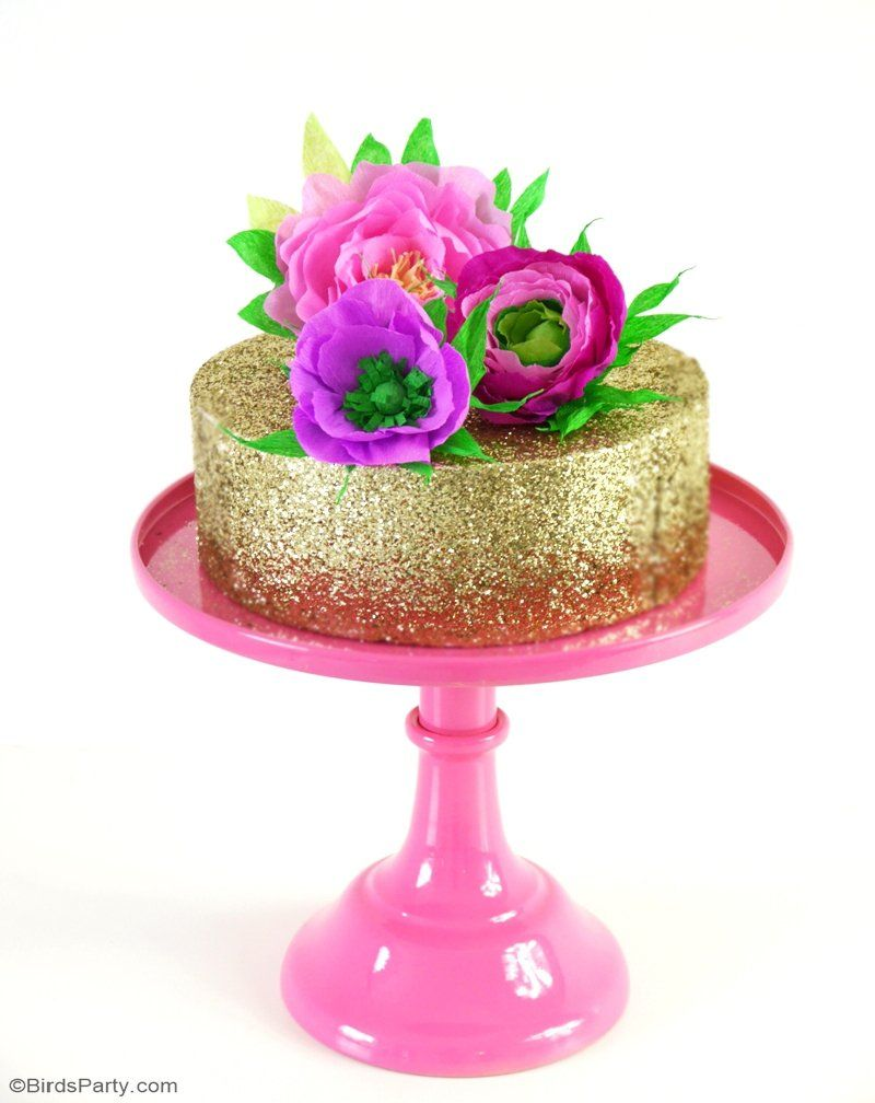DIY Paper Flower Cake Toppers | Bridal Showers and Wedding ...