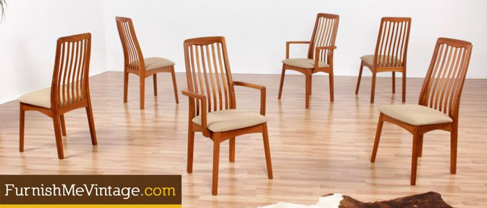 Etonnant Set Of Six Vintage Benny Linden Teak Dining Chairs. Danish Modern Design,  Made In Thailand. Quality Construction With Graceful Styling.