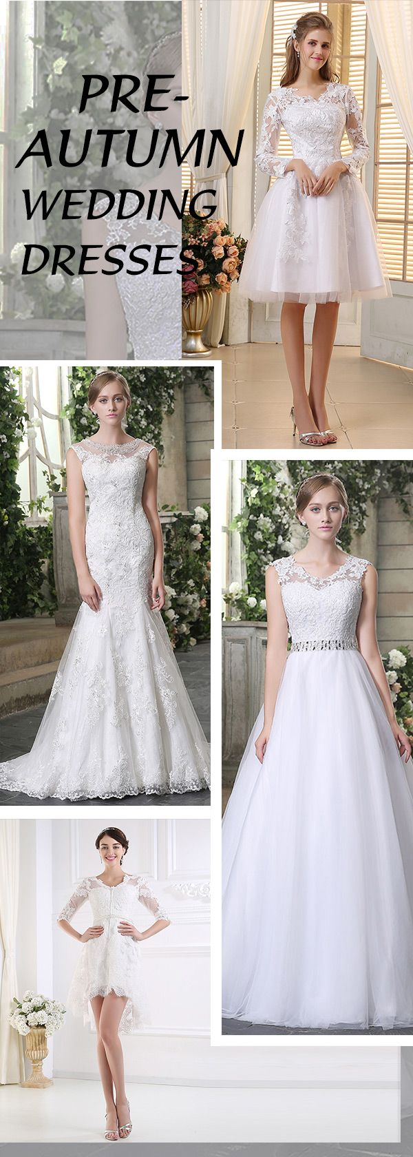 Best wedding gown for a preautumn wedding are bridal gown with