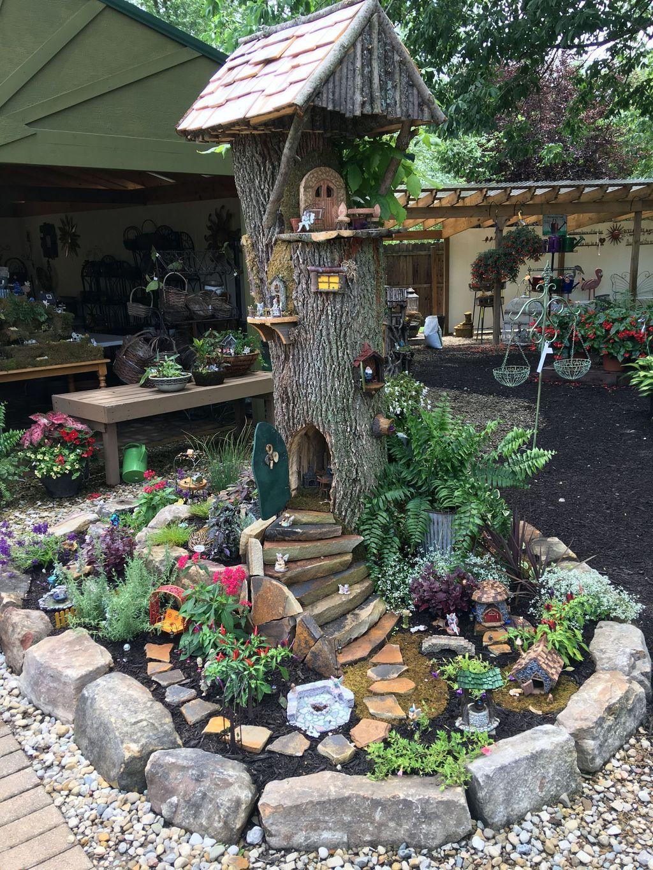 50 Comfy Fairy Garden Design Ideas For Simple And Low Cost Garden Fairy Garden Diy Fairy Tree Houses Fairy Garden Houses