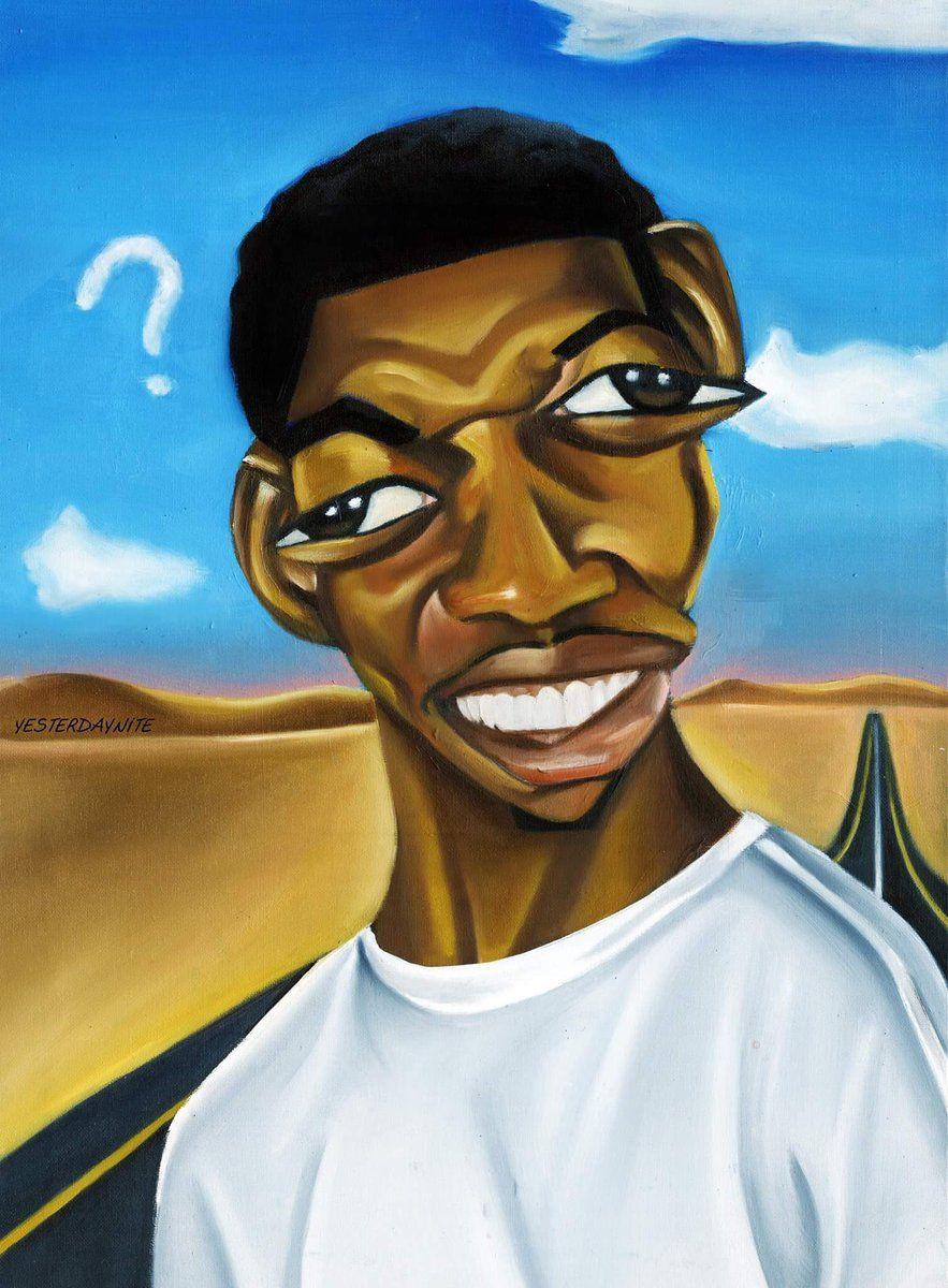 "Alim Smith's amazing ""Black Meme History Month"" paintings"