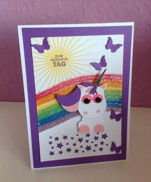 Geburtstagskarte Einhorn Crafts Geburtstagskarte Basteln
