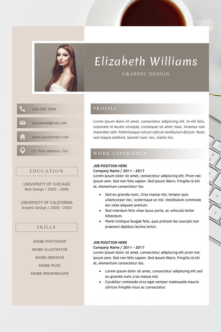 Epingle Sur Resume Template Word