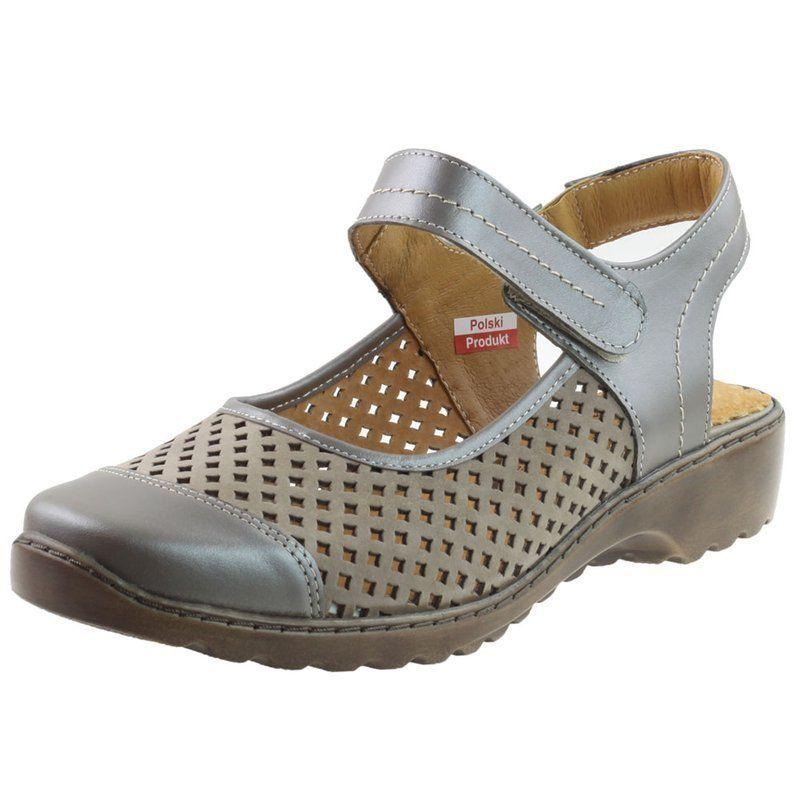 Sandaly Damskie Axel 1853 Bezowe Perla5 Wosk Buty Damskie Sandaly Shoes Sandals Wedges