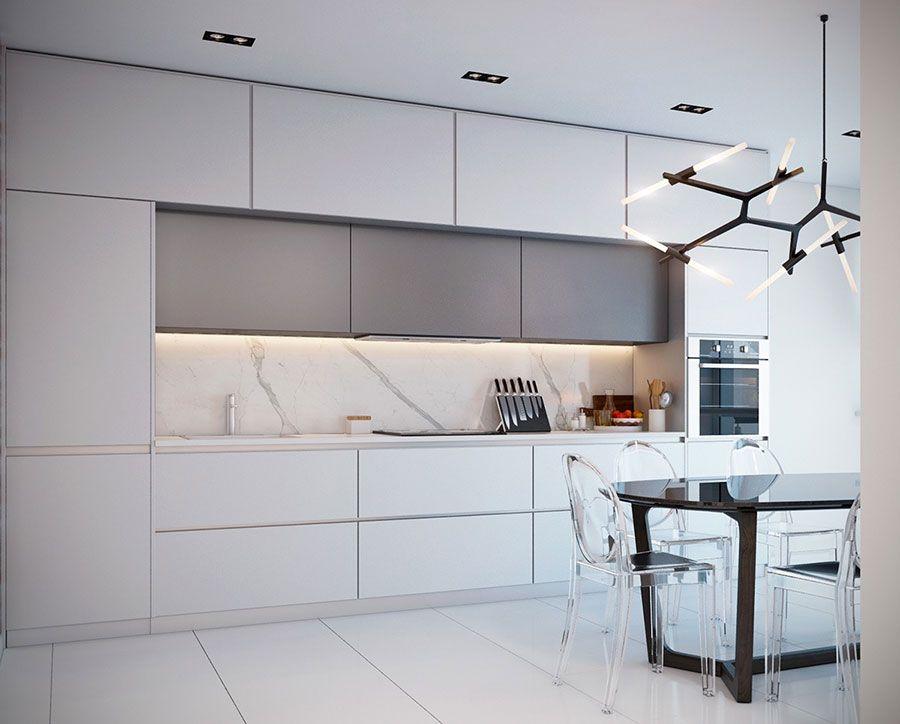 Cucine in Marmo: 30 Idee per Top, Piani e Rivestimenti | Cuisine ...