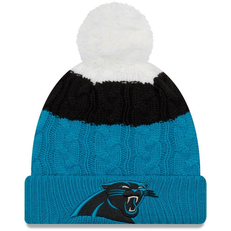 2c172dfd Carolina Panthers New Era Women's Layered Up 2 Cuffed Knit Hat with ...