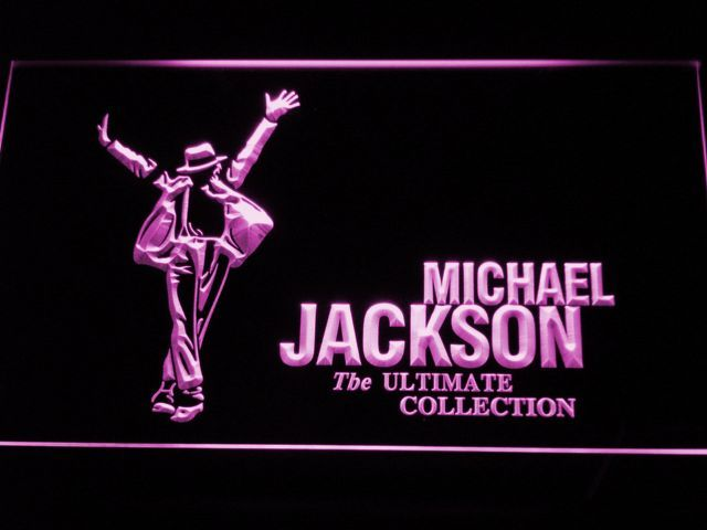 Michael Jackson Ultimate Collection LED Neon Sign Led