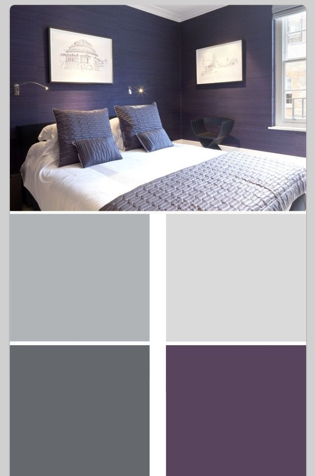 Neutrals And Purple Bedroom Colors Bedroom Color Schemes