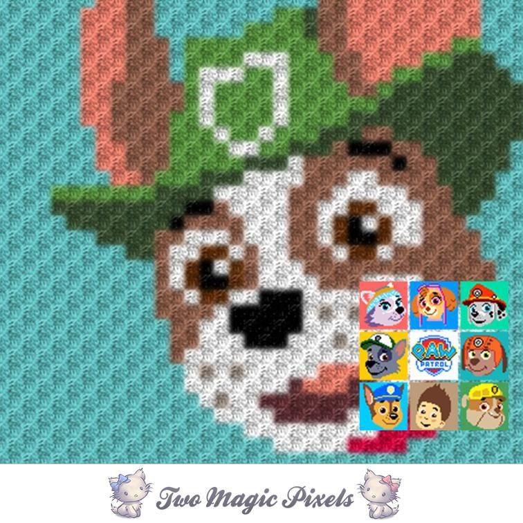 Paw Patrol C2C Crochet Graph Bundle | Pinterest