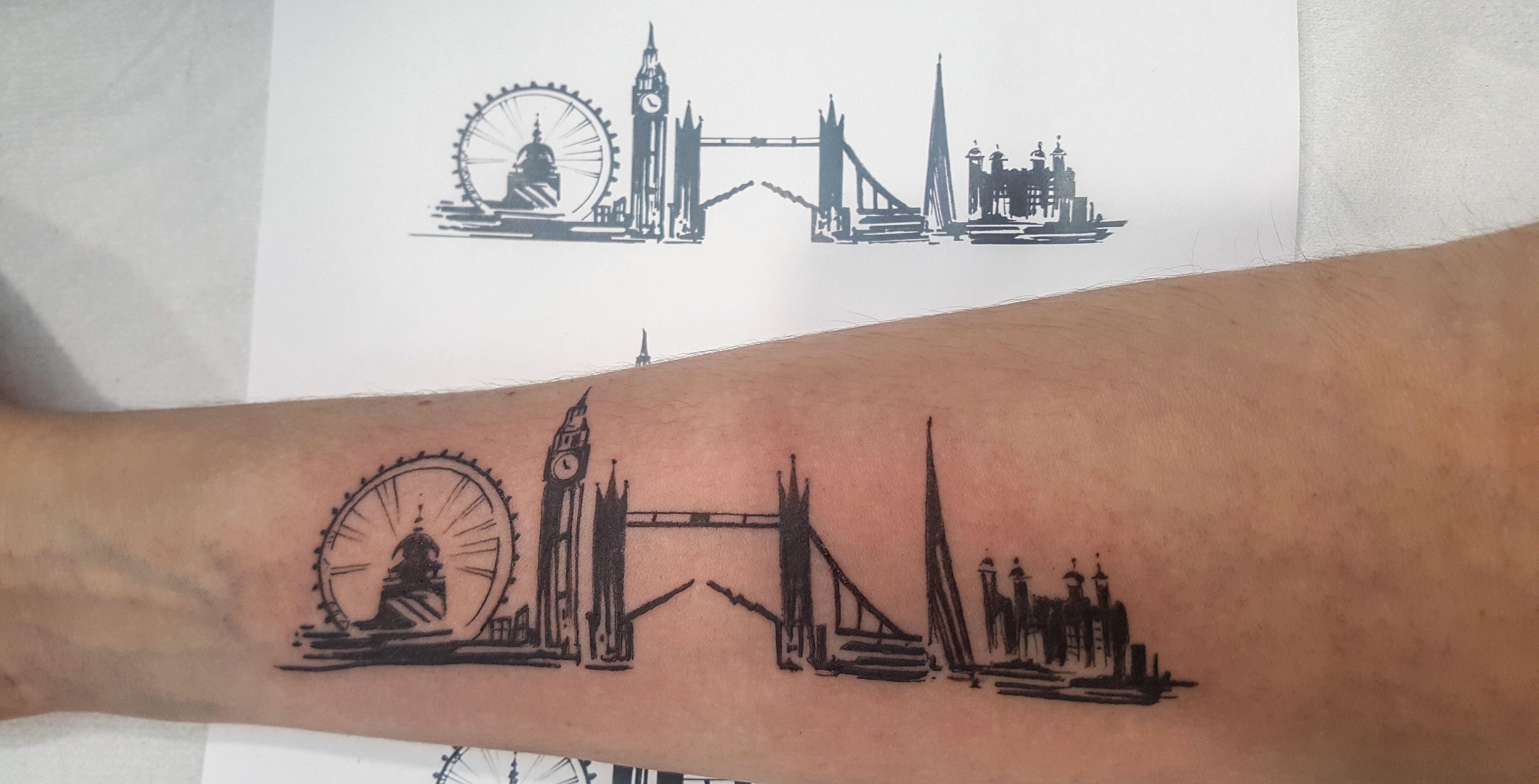 My London Skyline Tattoo