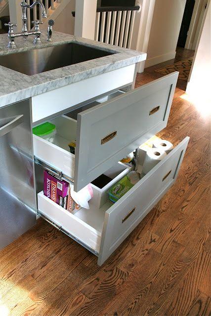 Design Dump Drawers Under The Kitchen Sink Kitchen Sink Storage Under Kitchen Sinks Kitchen Cabinet Storage