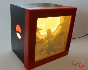 Itachi shadow box with light