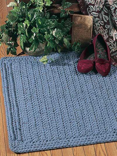 Crochet - Crochet Rug Patterns - Fancy Ridges Rug