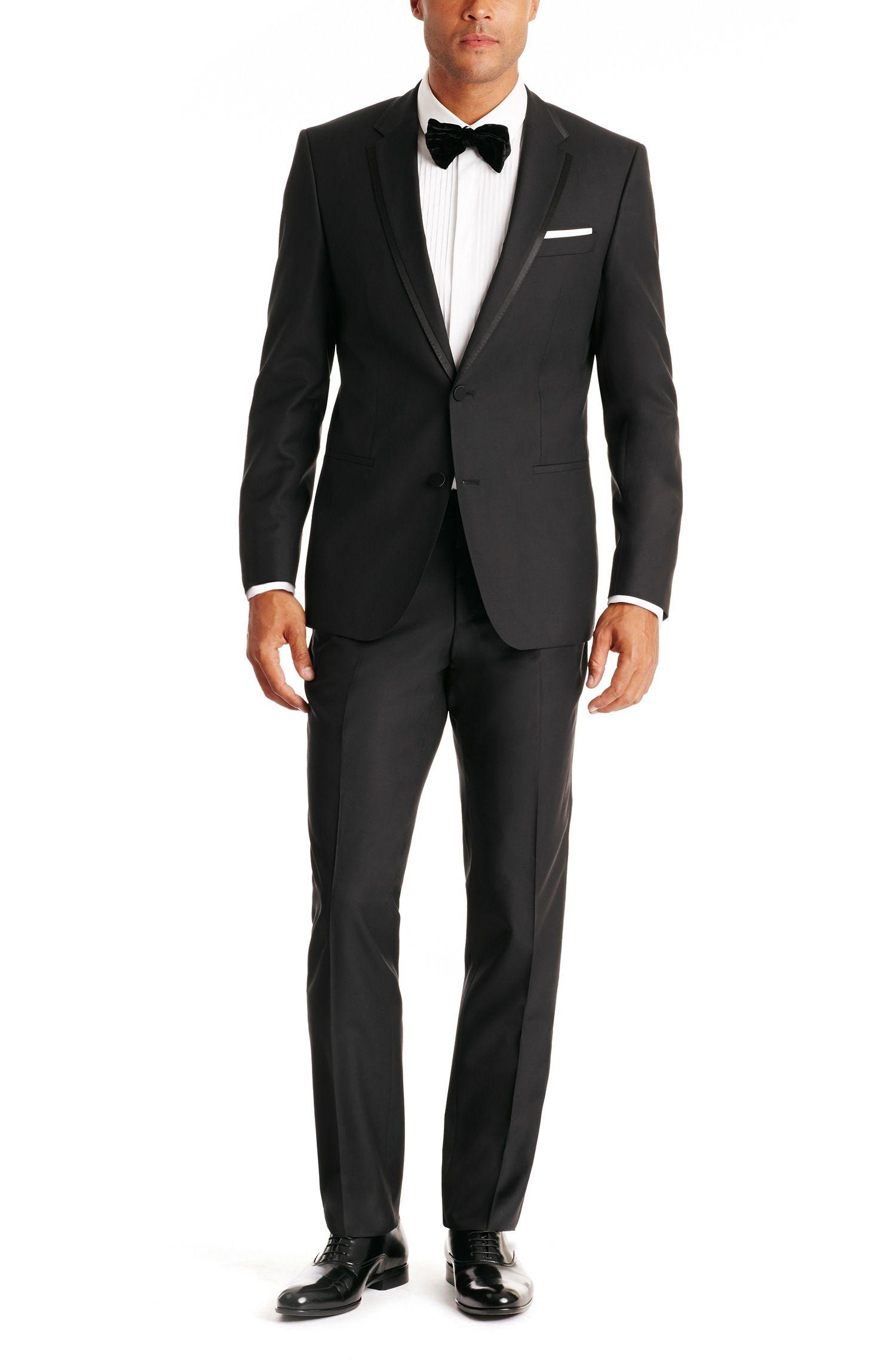 BOSS 'Herold/Gino' Slim Fit, Silk and Virgin Wool Tuxedo