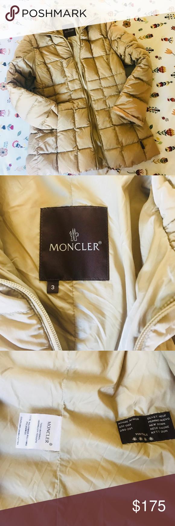 Women's Tan Moncler Jacket Duvet Down XiuOlZkwPT
