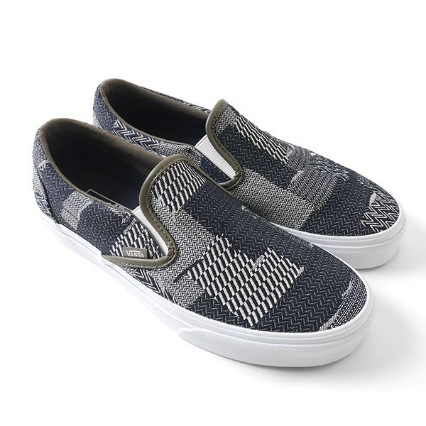 denim vans slip on
