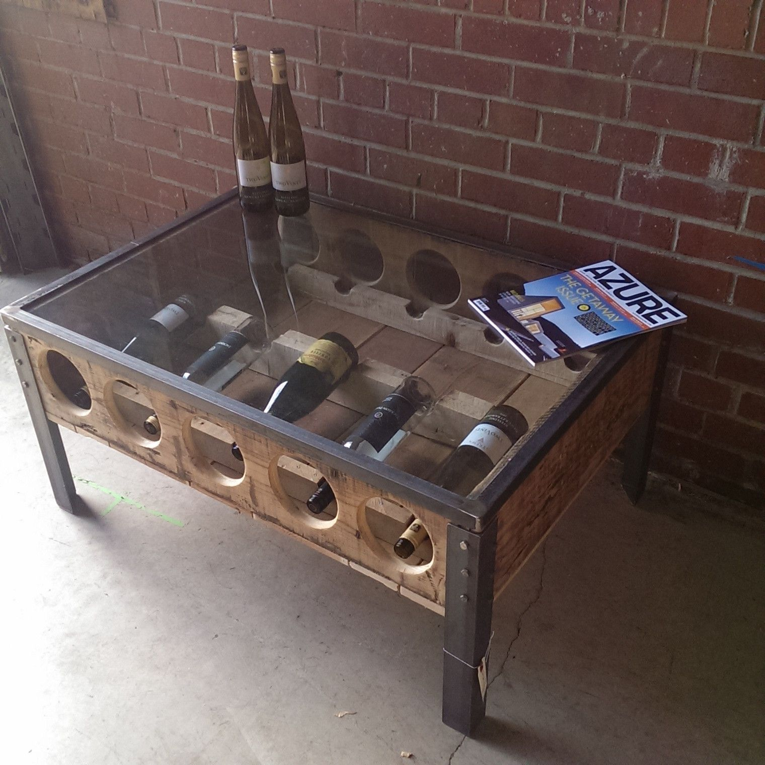 Wine Rack Coffee Table Sonder Mill Home Decor Furnishings