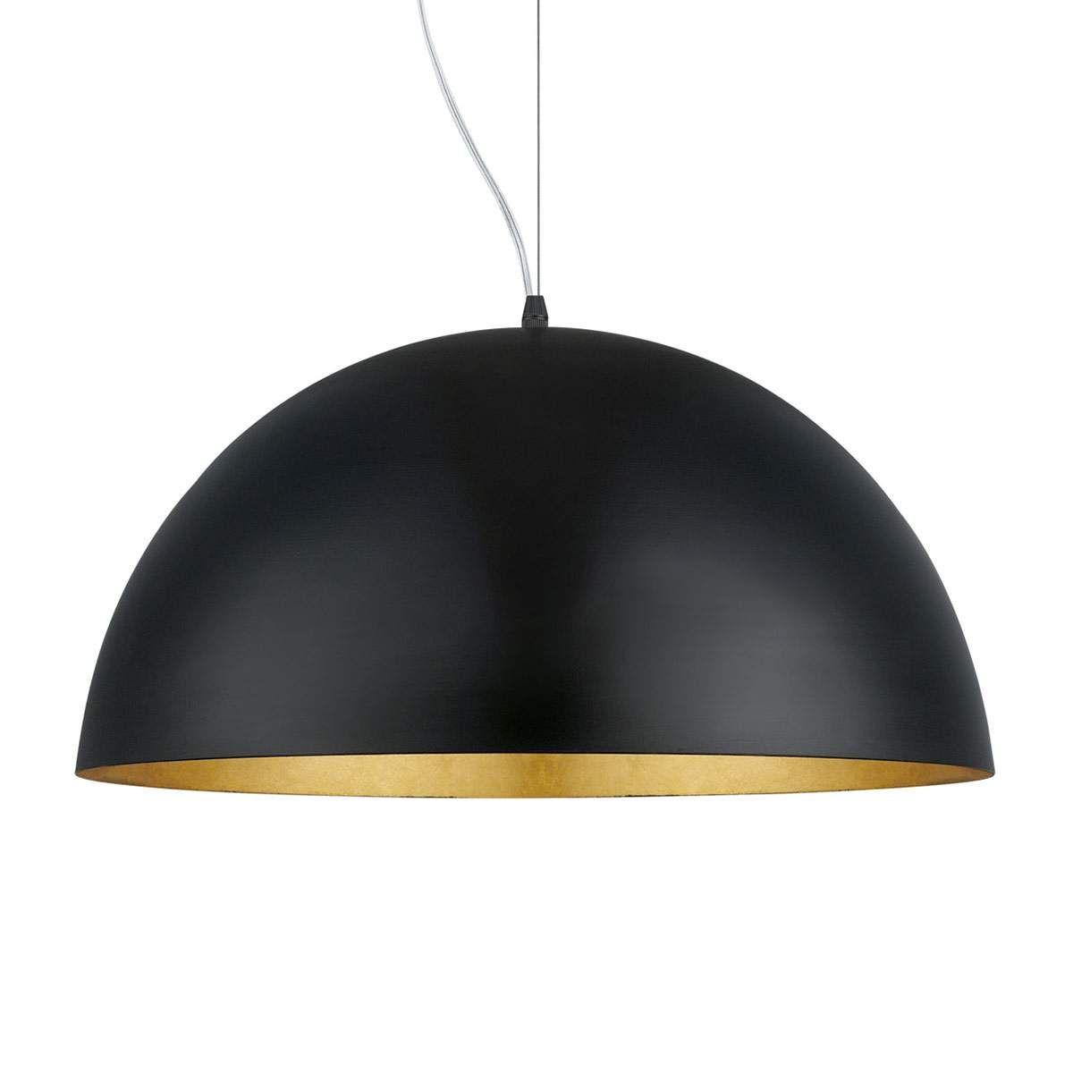 LED Decken Hänge Lampe schwarz Pendel Leuchte Wohn Ess Zimmer Strahler GOLD