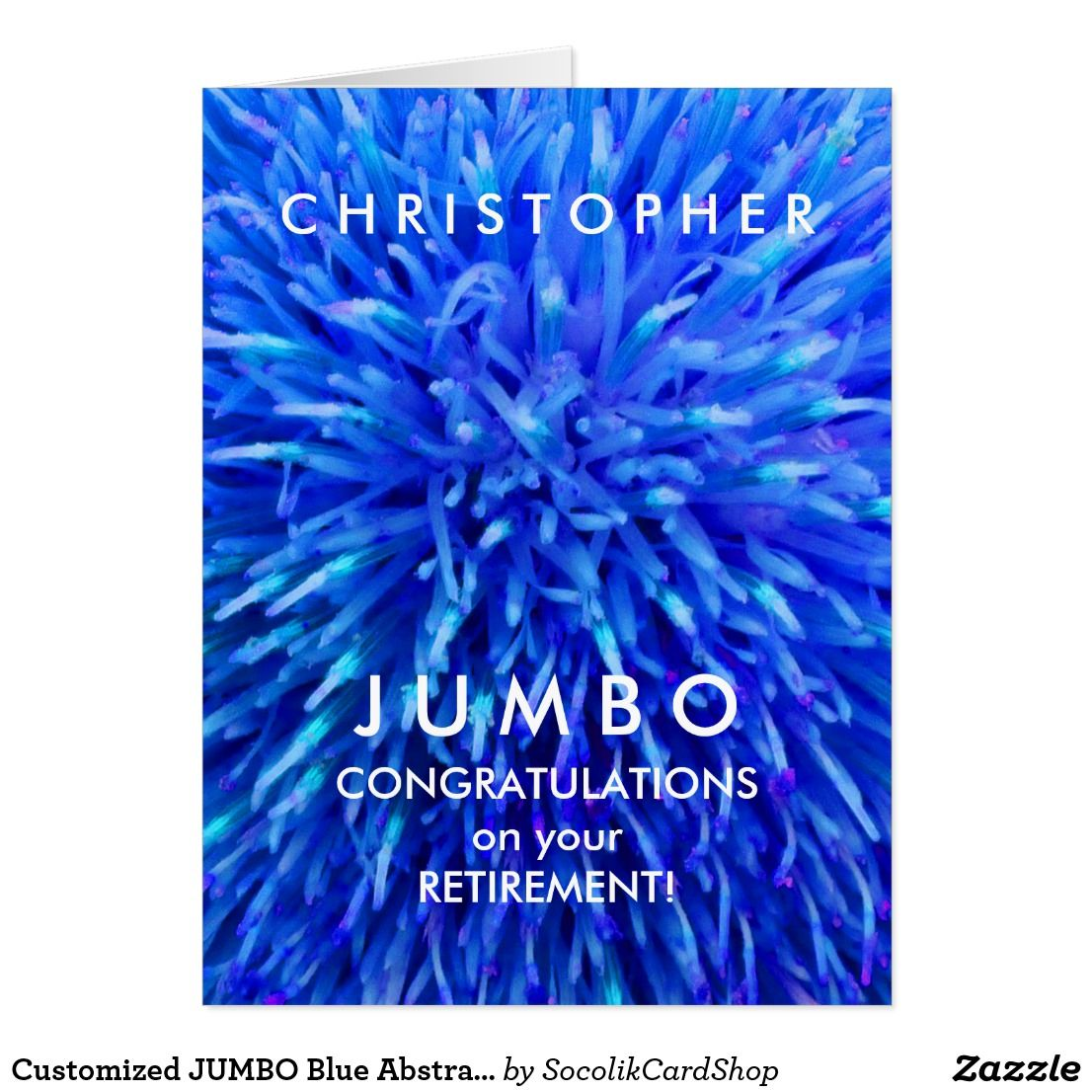 Customized jumbo blue abstract retirement card what a wonderful customized jumbo blue abstract retirement card what a wonderful personalized retirement congratulations greeting card m4hsunfo Gallery