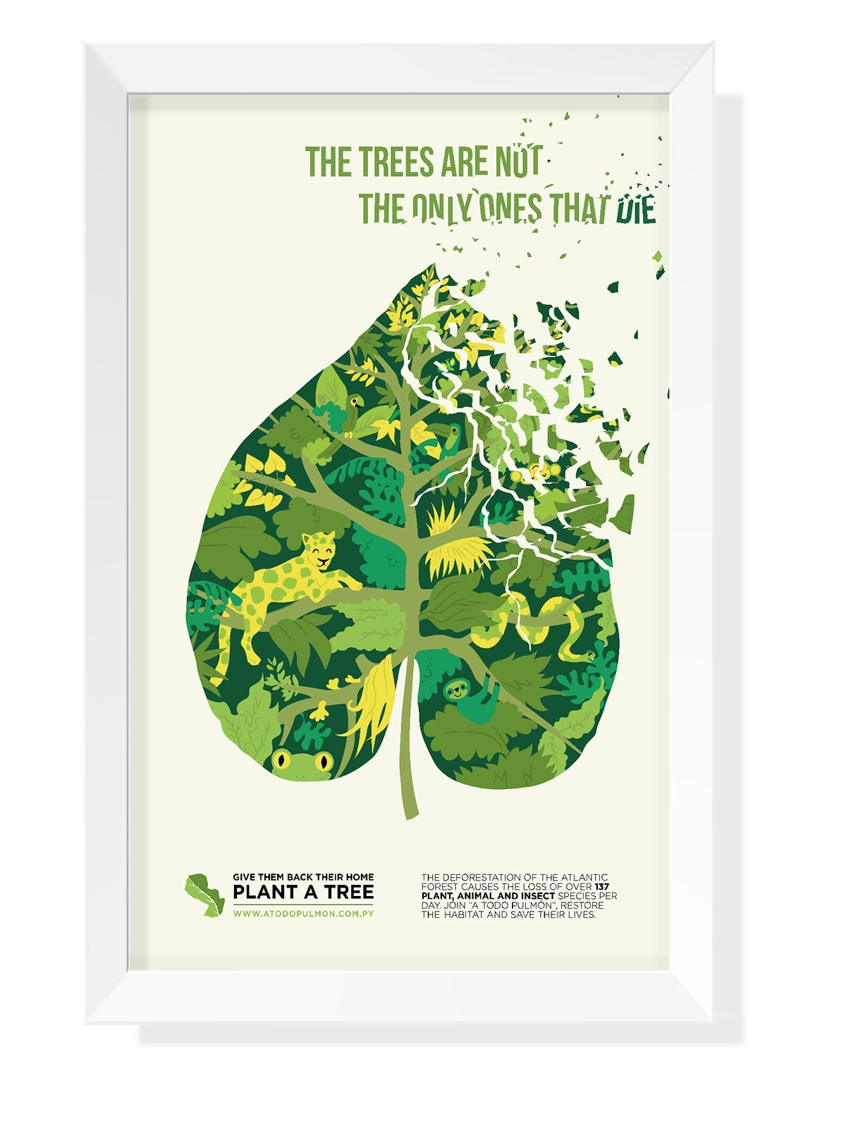 advocacy poster deforestation on behance art ecology