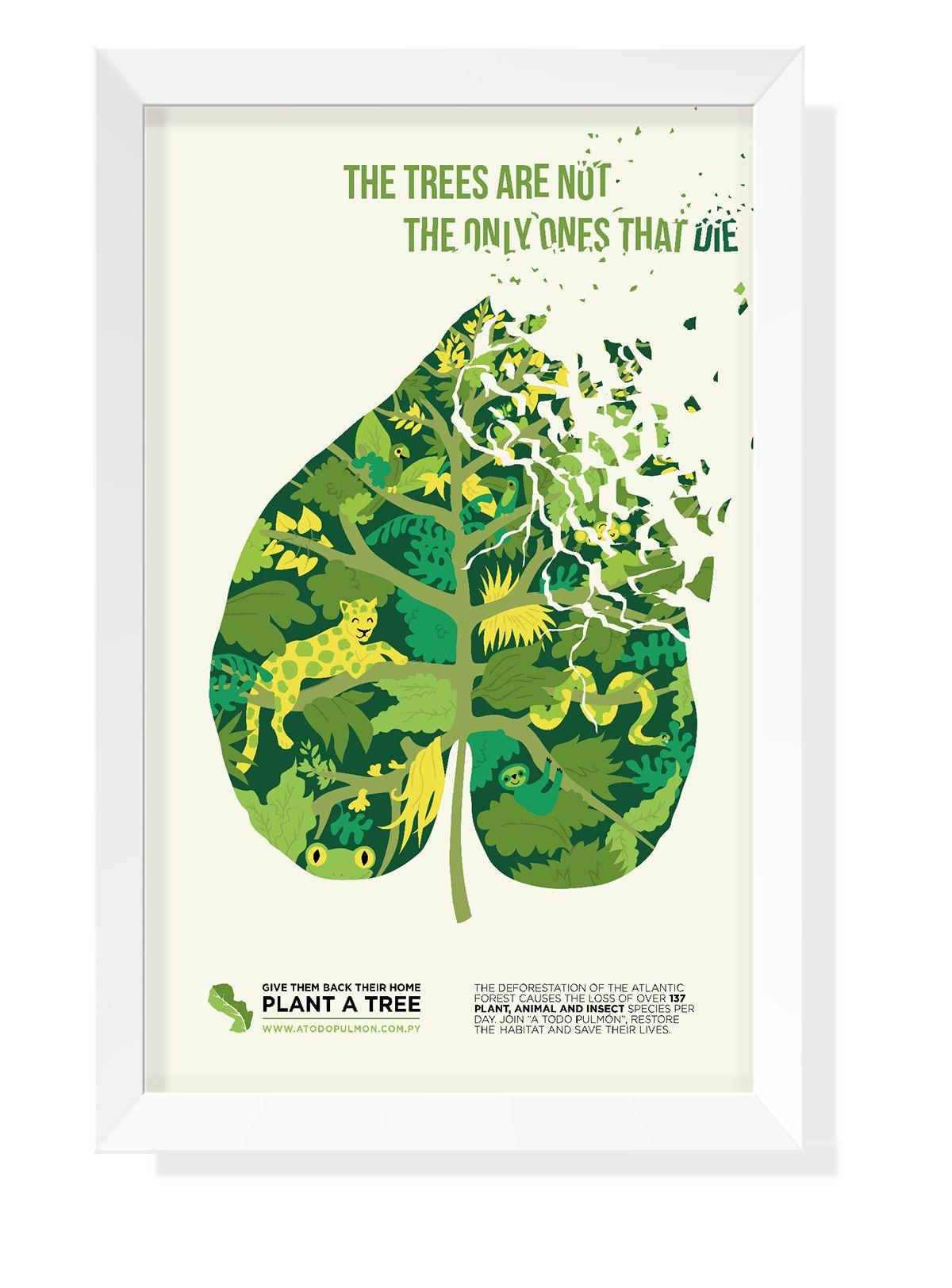 Advocacy Poster Deforestation on Behance Environmental