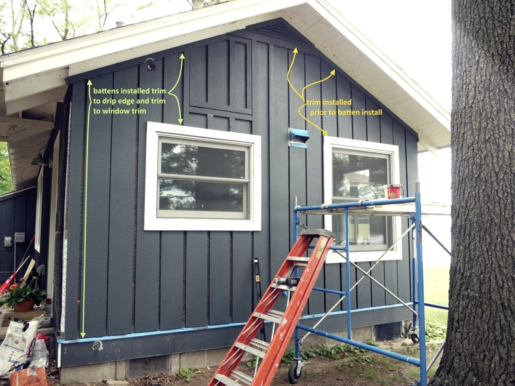 Board And Batten Siding Installing Step By Step Board And Batten Siding Blog In 2020 Board And Batten Siding Board And Batten Exterior Clapboard Siding