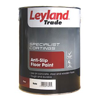 Leyland Trade Anti Slip Floor Paint Slate 5ltr Painted Floors Painted Slate Flooring