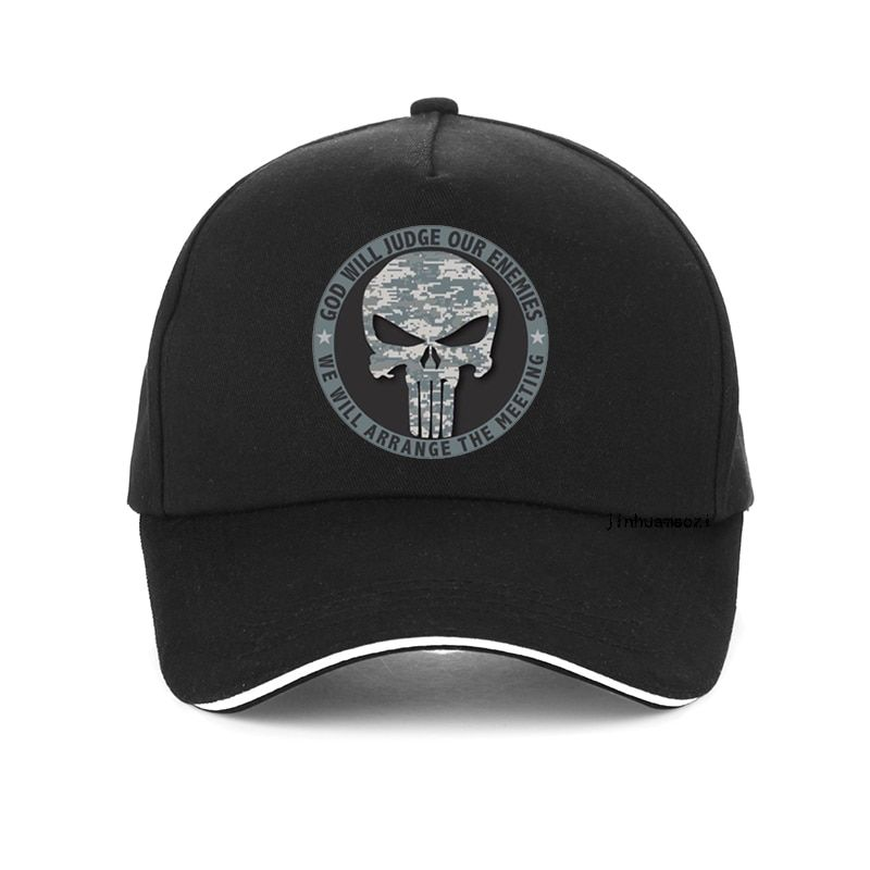 God Will Judge Our Enemies We Will Arrange The Meeting Letter Baseball Cap High Quality Punisher Hat Unisex Snapback Hats Shop The Nation Unisex Baseball Cap Baseball Cap Unisex Hat