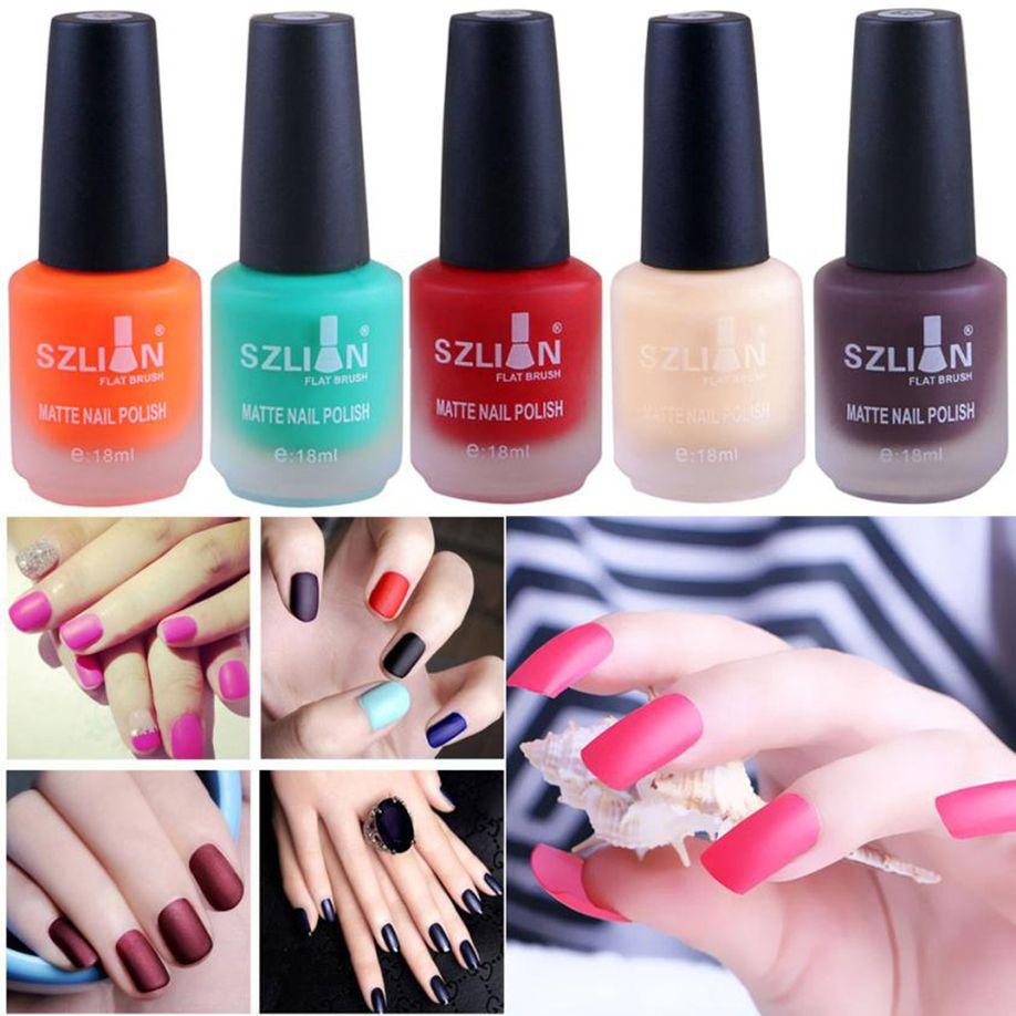 Women s Fashion New Cosmetic 18ml Matte Dull Nail Polish Fast Dry ...