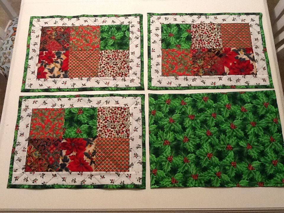 Christmas quilted placemats.