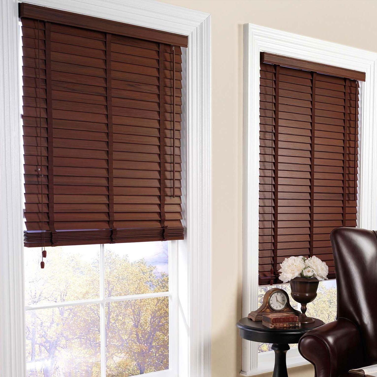 Interesting brown window blinds design in elegant living for Window blinds with designs