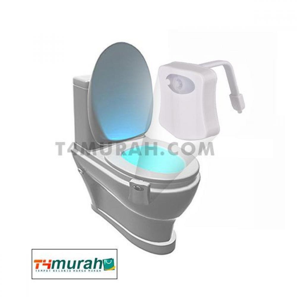 Lampu Toilet 8 Warna Lampu Led Motion Sensor Gerak Otomatis Lampu Led Led Toilet
