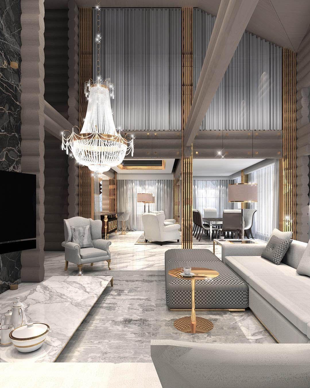 Contemporary Living Room Interior Design: Constantine Frolov Interior Designer