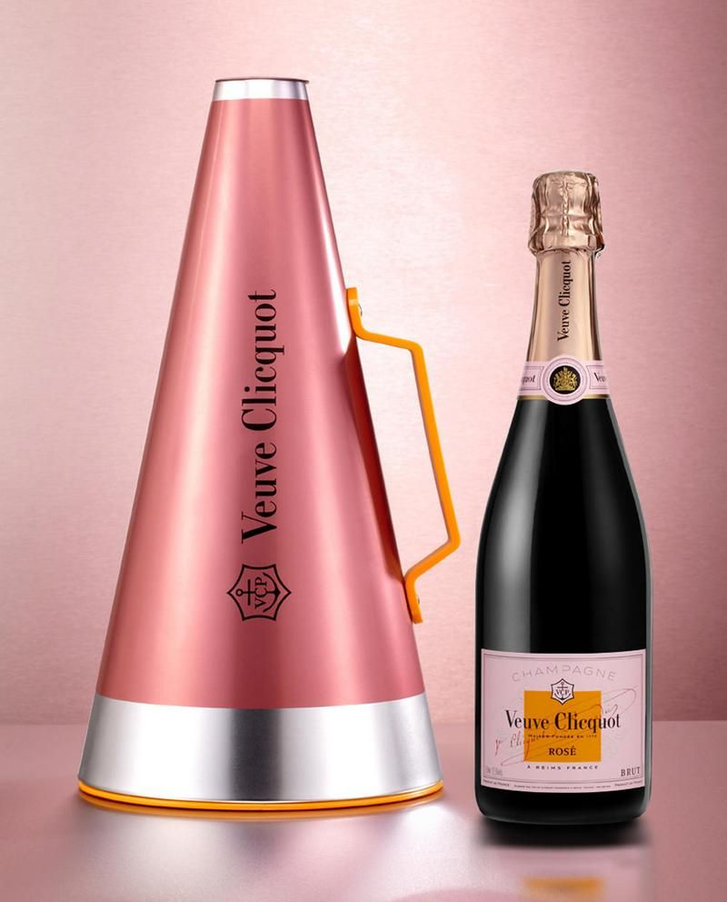 Veuve Clicquot Rose Scream Your Love Megaphone Valentinesday Champagne Champagne Veuve Clicquot Champagne Bottles