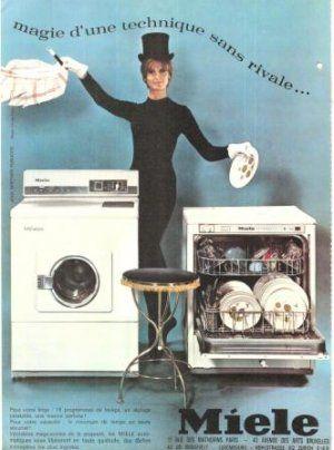 Miele Dishwasher Washing Machine Magician French Vintage Ad