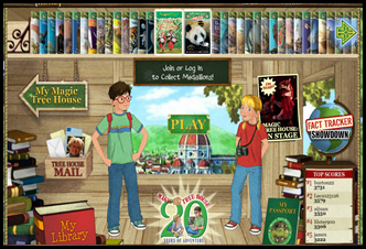 Magic Tree House Books Interactive Website for Kids