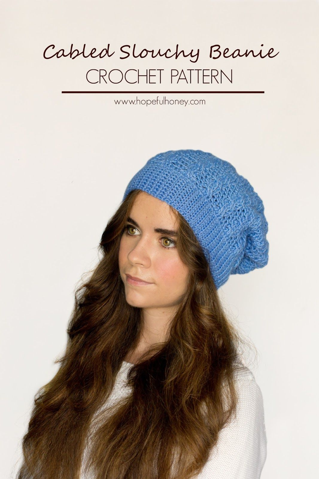 Cabled Slouchy Beanie Crochet Pattern | Free crochet, Cable and Crochet