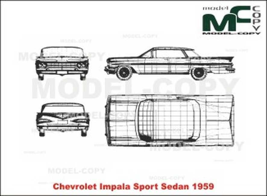 Chevrolet Impala Sport Sedan  1959  - Disegno