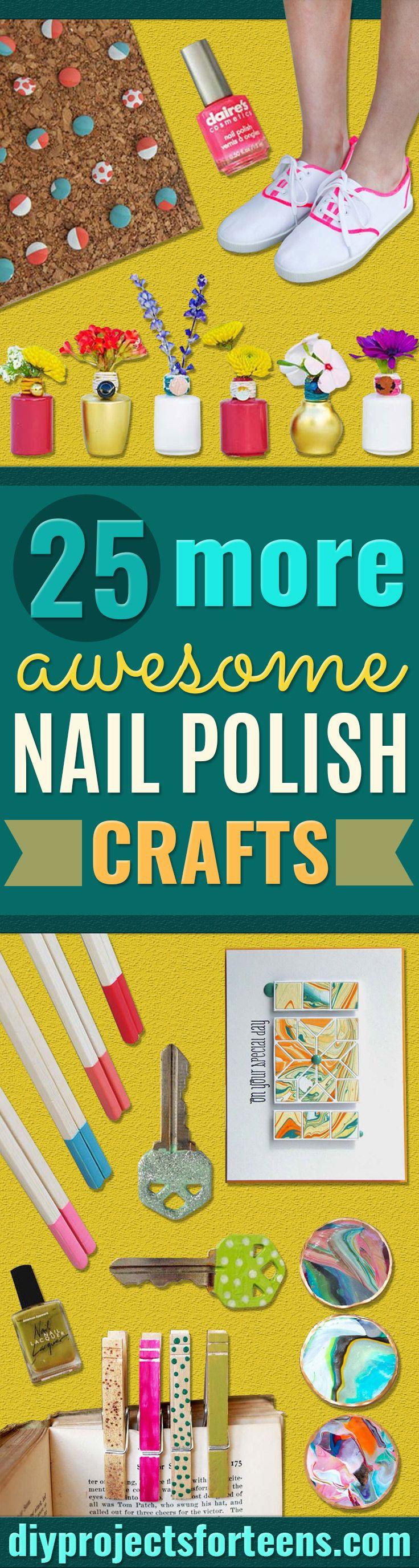 25 More Awesome Nail Polish Crafts