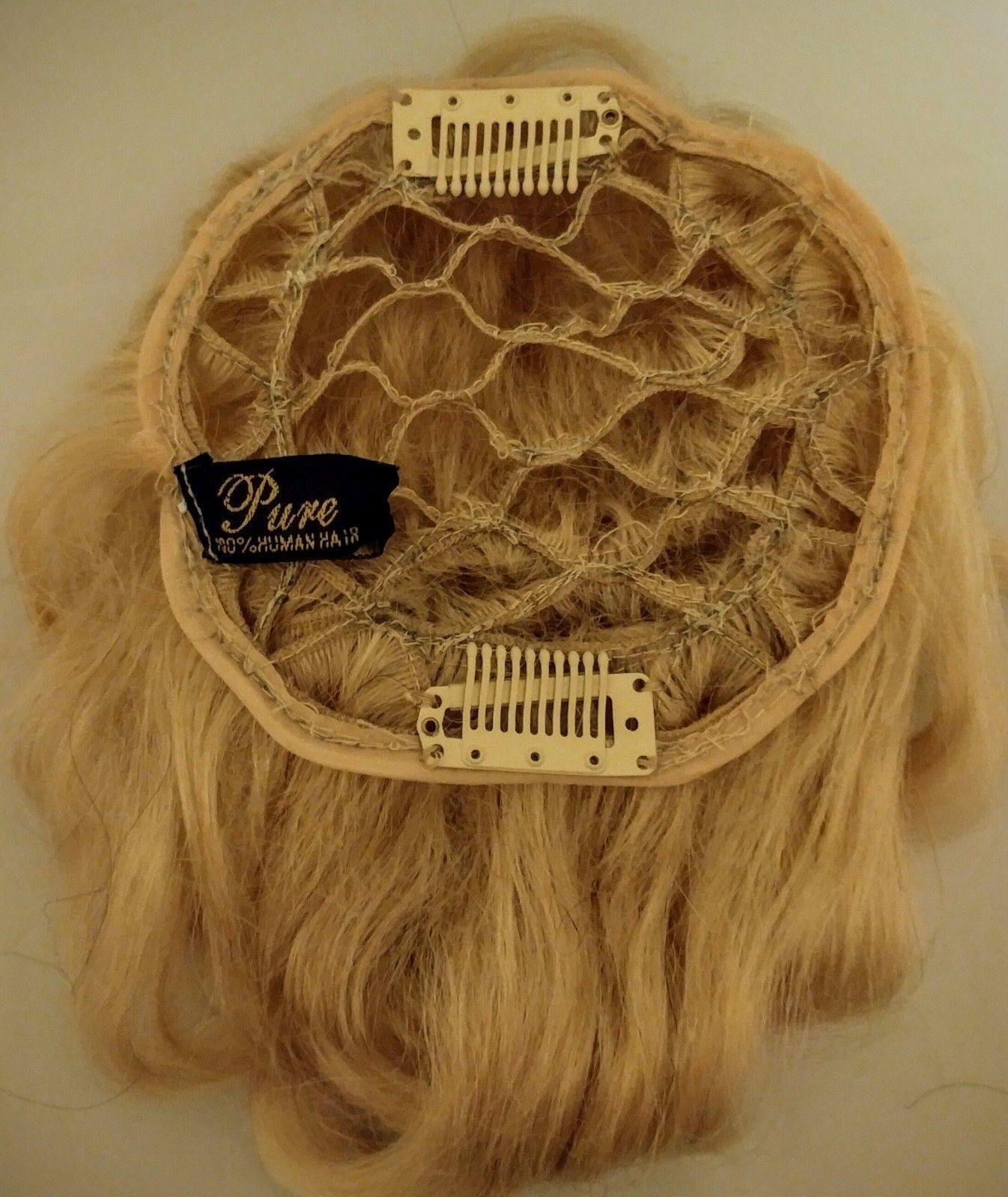 100 Human Hair Pull Thru Wiglet With Soft Honeycomb Base W Wire