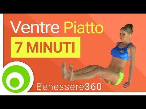 Ventre piatto in 7 minuti: esercizi addominali per ridurre la pancia - YouTube #magariungiorno