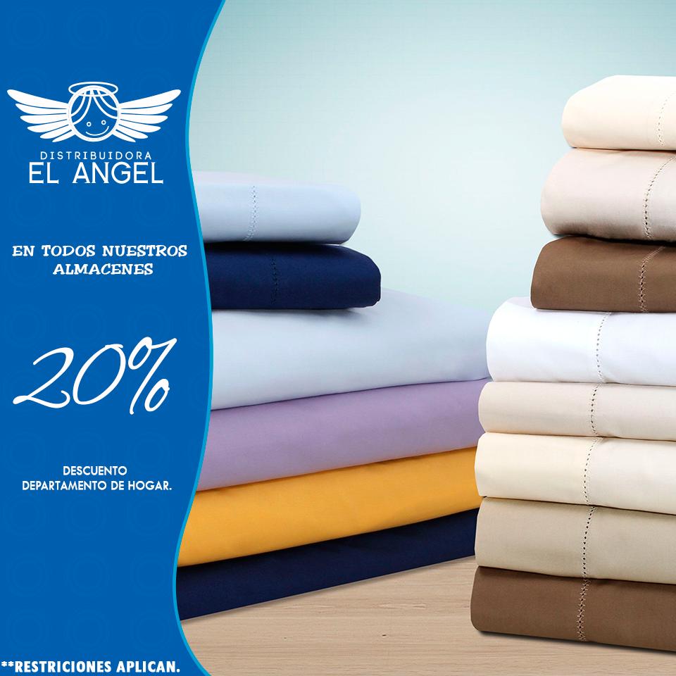 20% descuento cortinas, almohadas y más.
