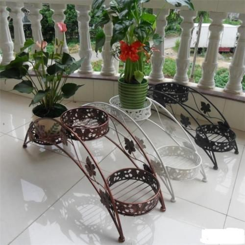 Metal Floor Standing Wrought Iron Pot Plant Stand Flower Planter 8 Style Us Sell Ebay Wrought Iron Plant Stands Plant Stand Iron Plant Stand