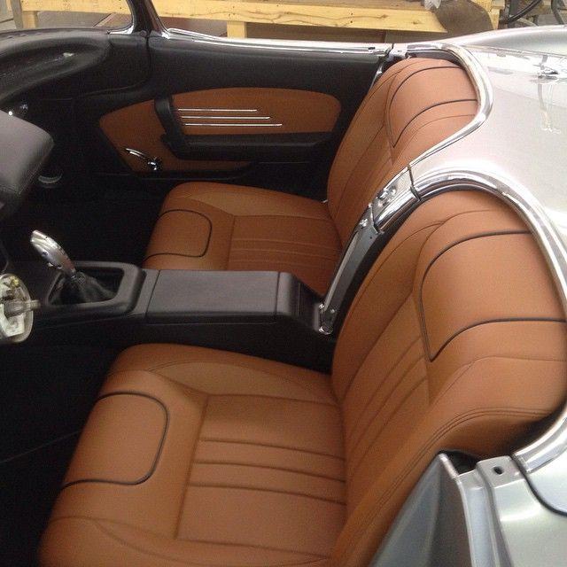 60 Corvette Becausess Grey Silver Black Brown Interior