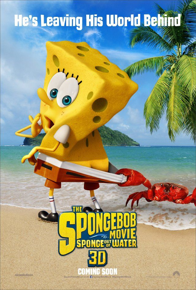 The Spongebob Movie Sponge Out Of Water 3d Poster New Movie Posters Spongebob Water Movie