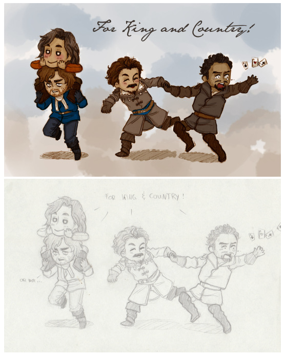 The Musketeers fan art - Chibis!!!!